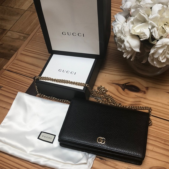 b192ef5463463 Gucci Handbags - Gucci marmont leather mini chain bag